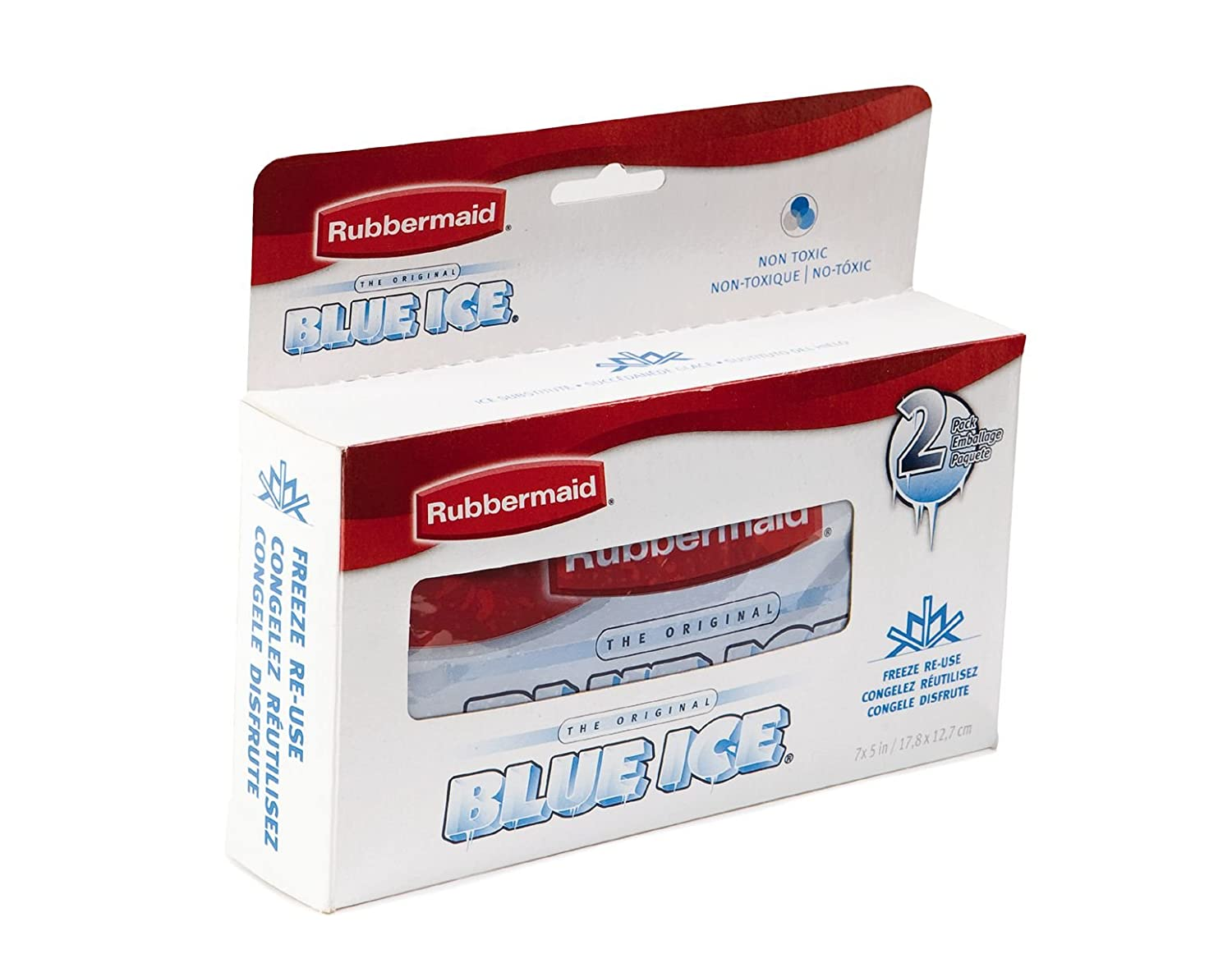 Twin Pack Rubbermaid Blue Ice Twin Lunch Pack