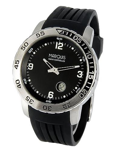 Radio reloj (Junghans-mecanismo) caja y correa de acero inoxidable 964,4700,78: Amazon.es: Relojes