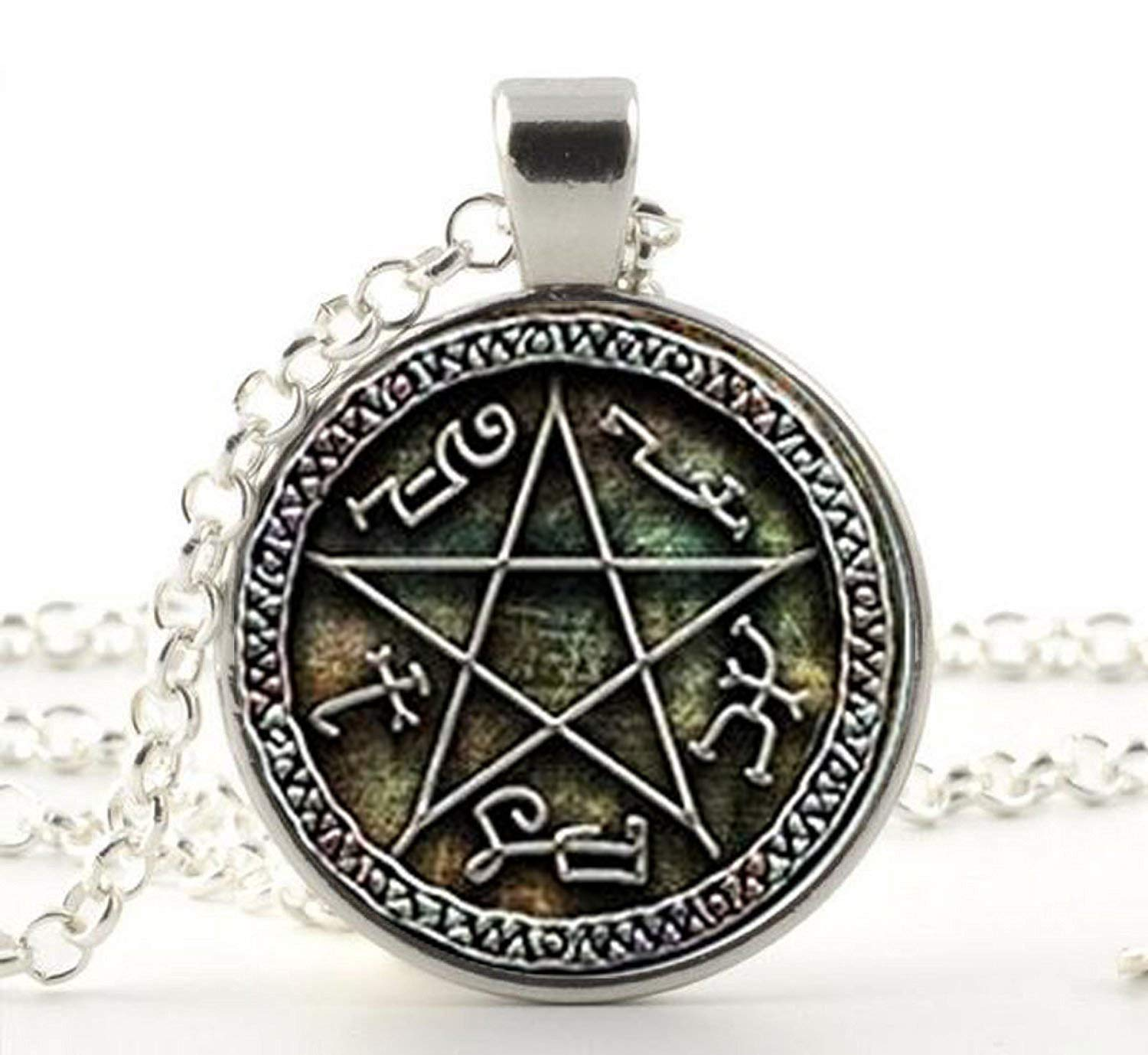 Supernatural Devils Trap pendant jewelry Glass Cabochon Necklace