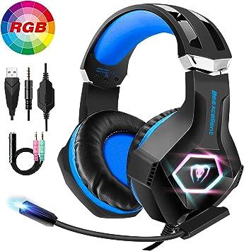 FISHOAKY Auriculares Gaming para PS4, Cascos Gaming Premium Stereo ...