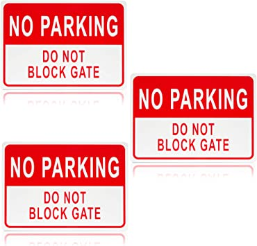 10 x 14 in, Aluminum, 3 Pack Juvale Please DO NOT Block Driveway Sign