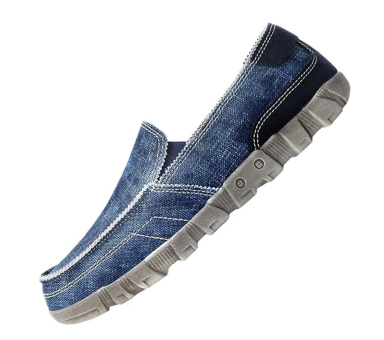PPXID Baskets Low Loisirs Toile Bateau Chaussures de Sport Slip-on