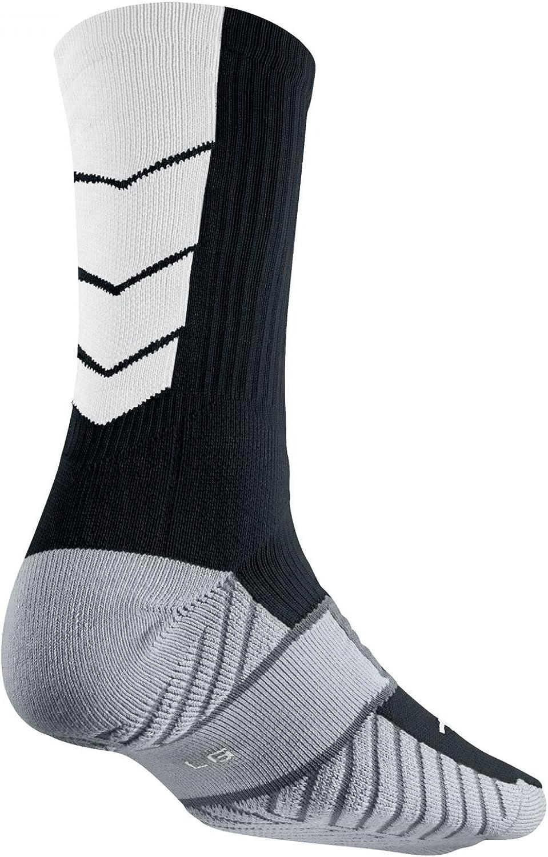 Large , BLACK//WOLF GREY//WHITE//WHITE shoe size 8-12 NIKE STADIUM SOCCER CREW