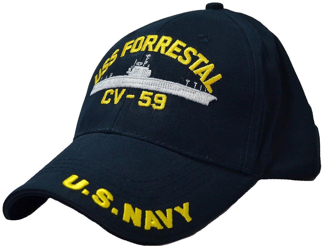 Amazon.com  USS Forrestal CV-59 Low Profile Cap  Clothing 1e11599a336