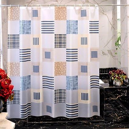 cortinas de baño,cortina de ducha,tela impermeable,cortina baño antimoho,Baño