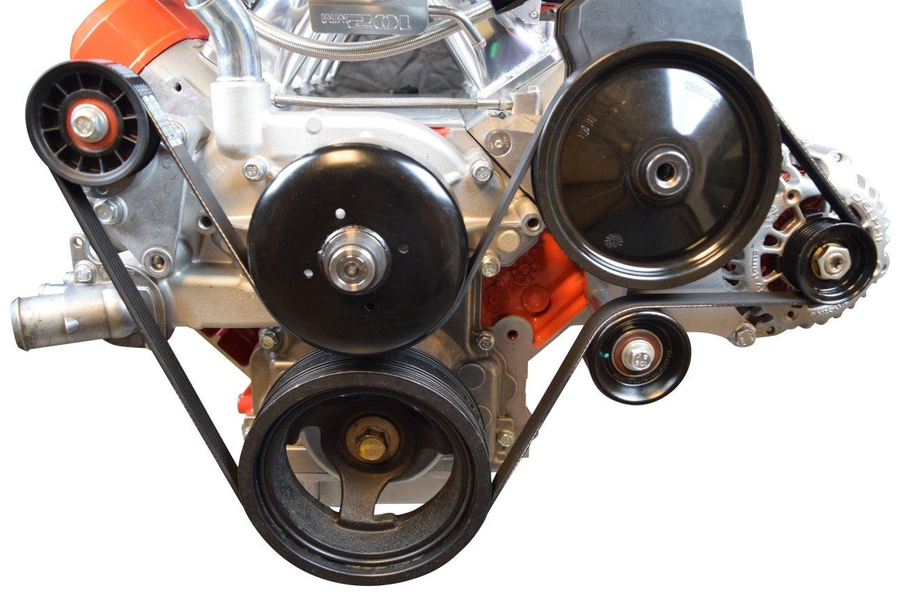 LS Truck Alternator /& Power Steering Pump Drivers Side Bracket Accessory Kit LSX 5.3L 6.0L 4.8L 551520-3