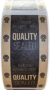 Tamper Evident Labels Quality Sealed Natural Kraft Food Seal Stickers 2 x 4 Inch 500 Total Stickers