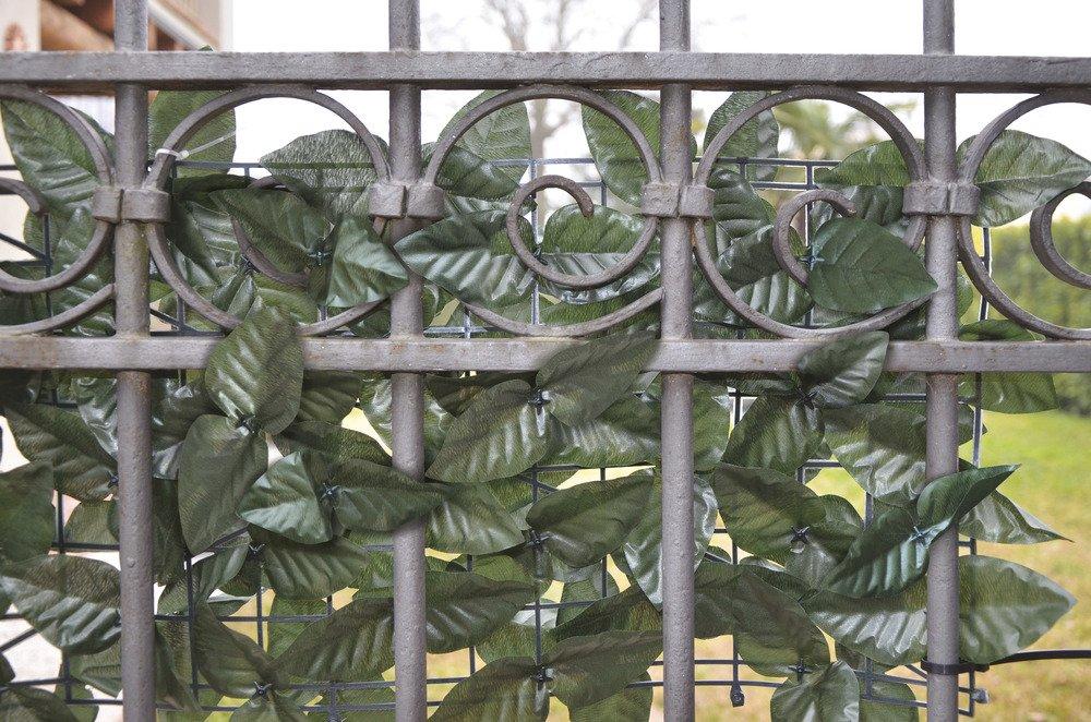 VERDELOOK Sempreverde/® Double Foglia Lauro su Due Lati per arredo Giardino Siepe Artificiale 1x3 m