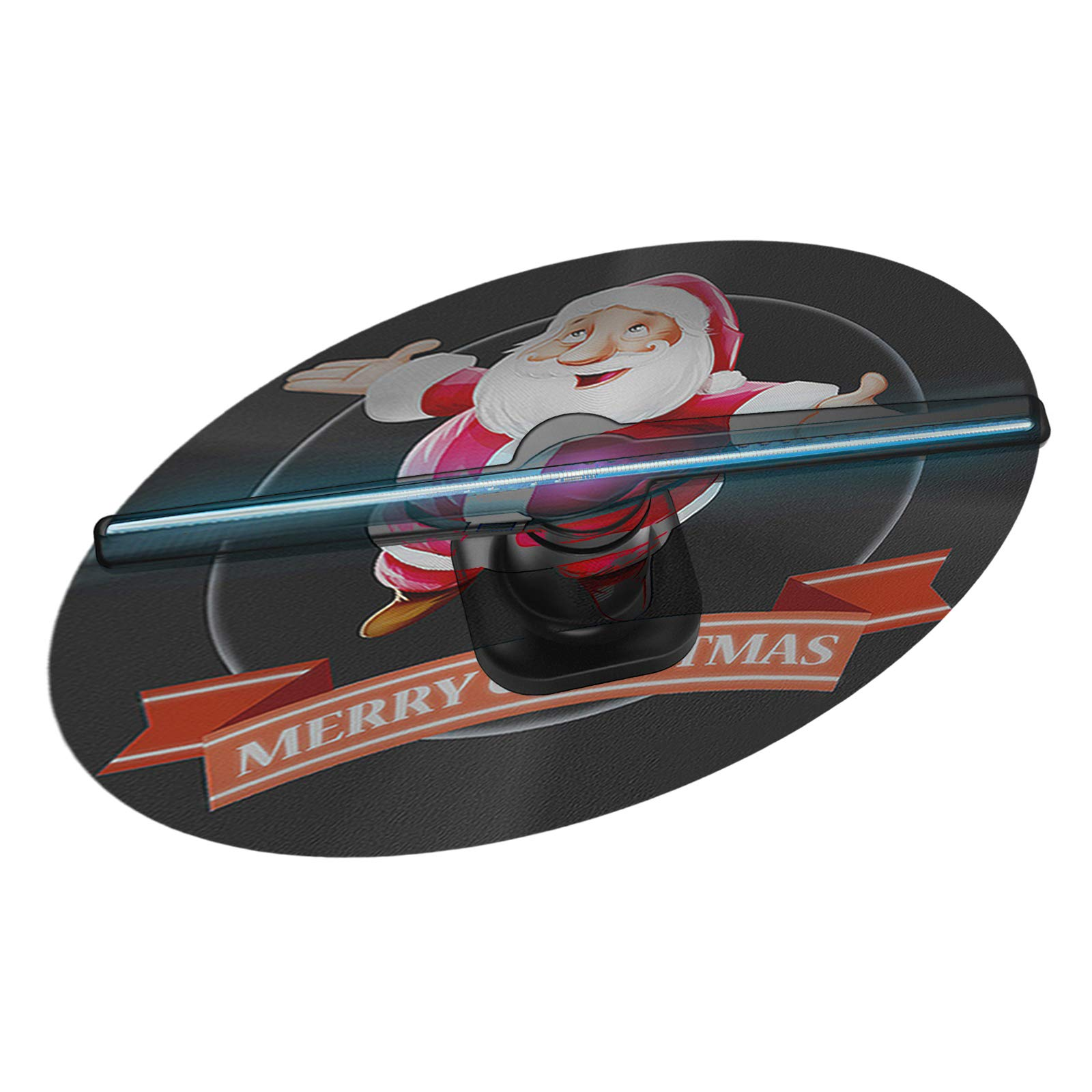 3D Hologram Fan Advertising LED Fan 450p HD Wi-Fi 3D Holographic Store Sign for Shopping Mall Restaurants Bar Holiday Events Display etc