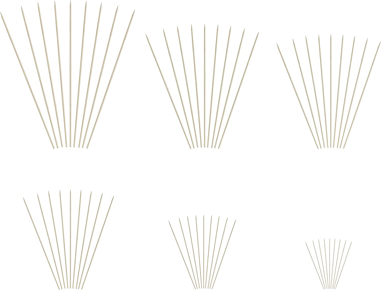 KingSeal Natural Bamboo Wood Skewers 16 Packs of 100 per Pack 10 Inches