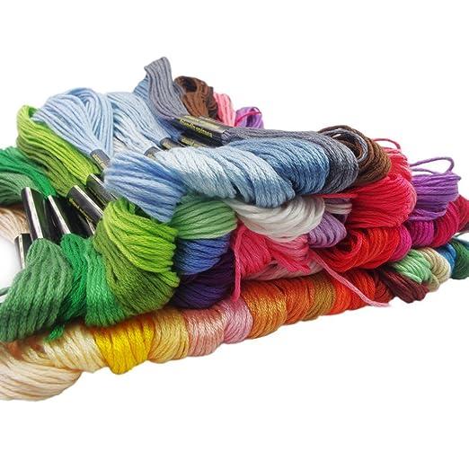 haobase hilo de bordar, 100% algodón, 50 x Madejas de varios ...
