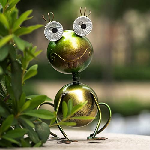 GDF Solar Garden Lights Outdoor – Decorative Metal Frog LED Lights Solar Garden Lights Outdoor Waterproof for Garden Patio Backyard Decorations