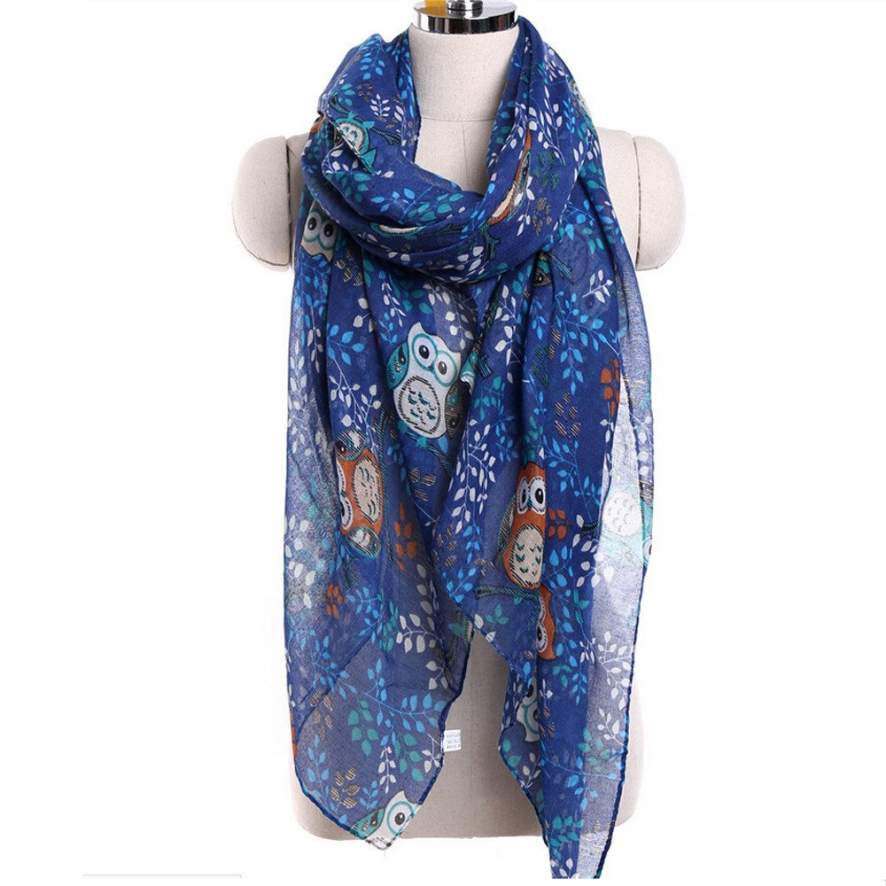 Hot Sale Women Special Owl Pattern Print Viscose Long Scarves Shawl Wraps Fall Winter Scarf