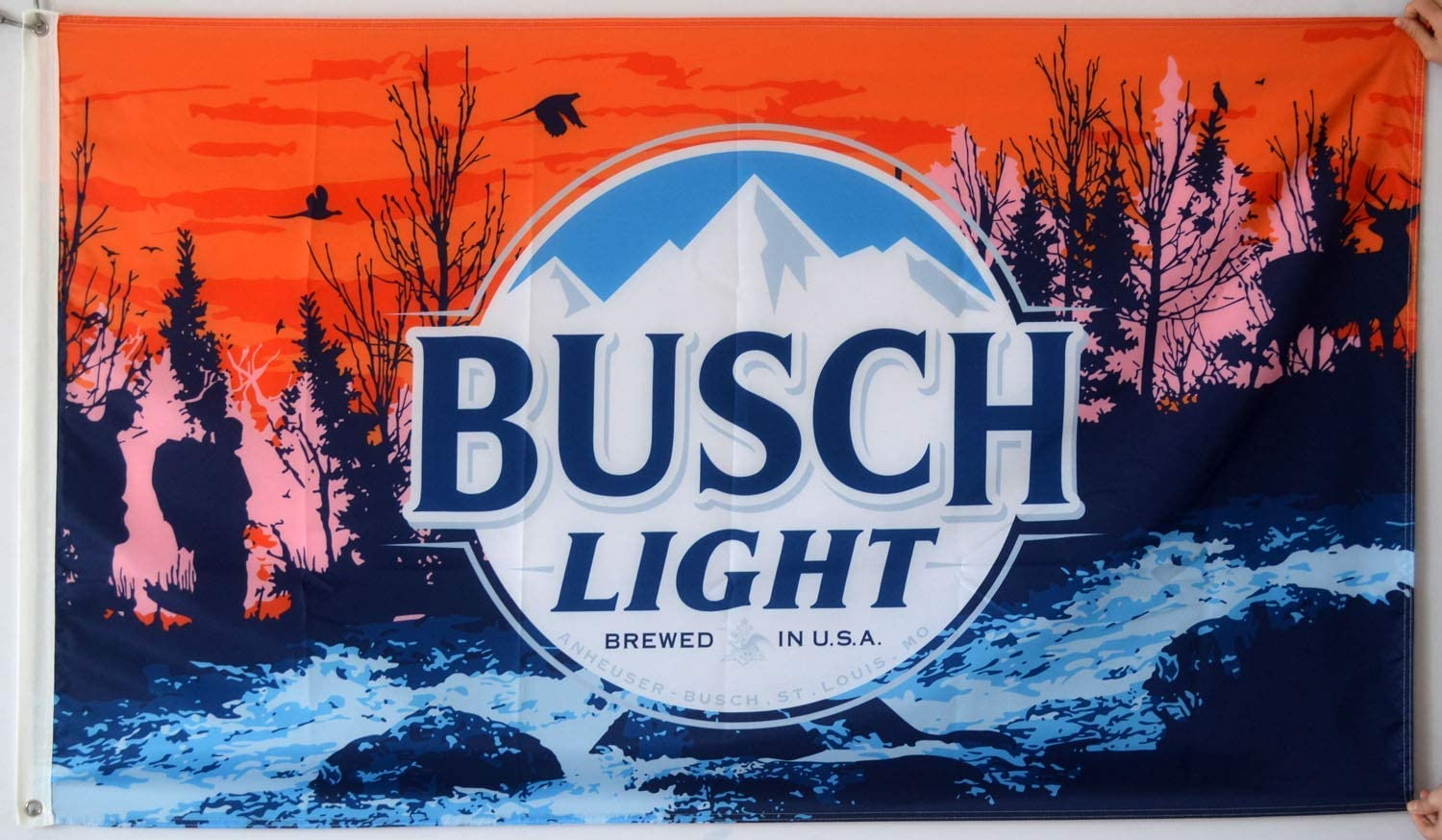 Derberha - Busch Light Flag - Cool Beer Flags - Funny Banner for College Dorm Room, Man Cave, Tailgates and Parties - 3x5 Feet