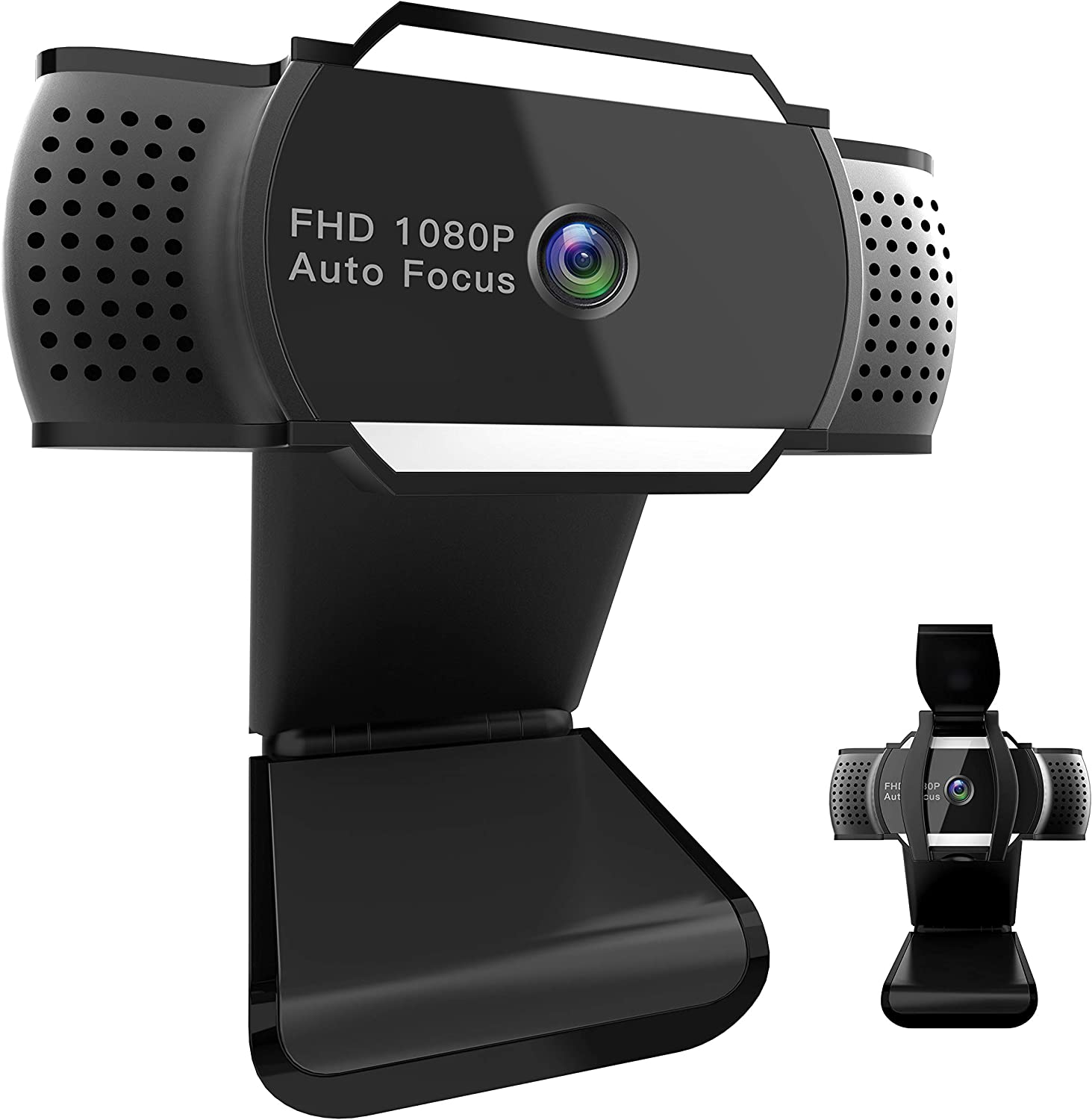 Webcam 1080P with Privacy Shutter, Fogeek HD Autofocus Web Camera with Mics for Conferencing, Video Calling, Recording, Streaming, Gaming [Free-Driver Installation] USB Camera for PC Laptop