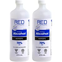 2 Bottles Isopropyl Rubbing Alcohol 70% USP Sterilization Solution 473mL - IPA Medical Grade 70 Percent Isopropanol for…