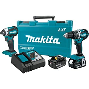 Makita XT269M 18V LXT Lithium-Ion Brushless Cordless 2-Pc. Combo Kit (4.0Ah),