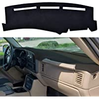 GMC Yukon Great-luck Dashboard Cover Mat Custom Fit Dashboard Protector 2007-2013 Dash Cover Easy Installation,for Chevy Chevrolet Suburban//Tahoe Chevrolet Avalanche Silverado 1500 LTZ 2007-2014