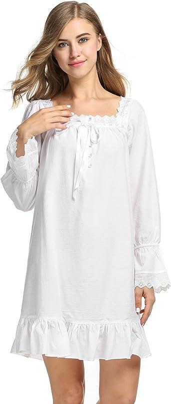 Avidlove - Pijama para mujer, estilo vintage, de mezcla de algodón ...