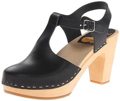 swedish hasbeens Women s T-Strap Sky High Heeled Sandal Black 36 EU 6 M 7deb90566