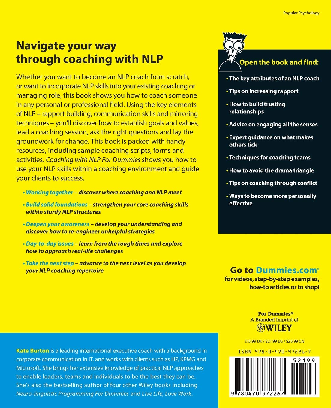 Amazon.com: Coaching With NLP For Dummies (9780470972267 ...
