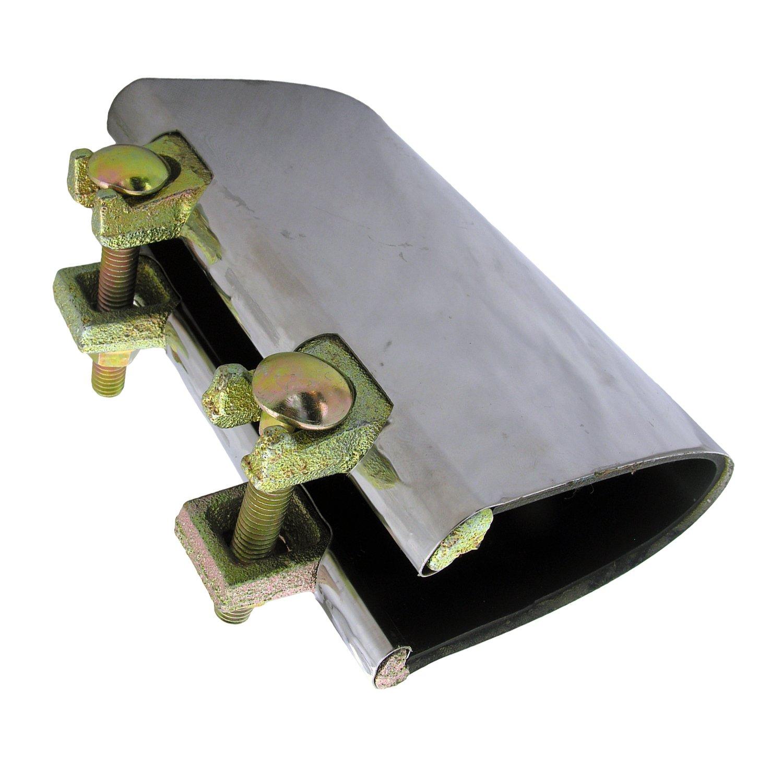 LASCO 13 – 1342ステンレススチール一体型パイプ修理クランプwith 2つボルト、6インチ B00ITPI30C