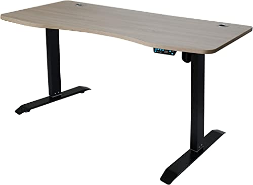 Caesar Hardware Memory Buttons Adjustable Sit to Stand Work Office Desk