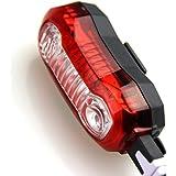 Sunspeed LEDテールライト USB充電式 5モード 防水 240°可視 リアライト 強力 軽量 セーフティライト