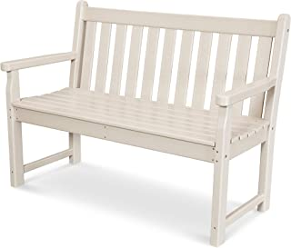 """product image for POLYWOOD TGB48SA Traditional Garden 48"""" Bench, Sand"""