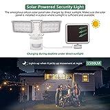 GLORIOUS-LITE Solar Lights Outdoor, 1500LM Super
