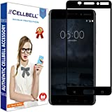 CELLBELL Tempered Glass for Nokia 6 (Black)