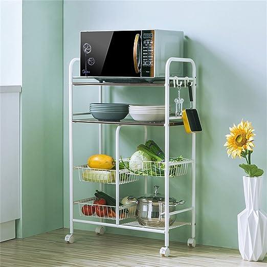 LPZ-Shelving Carro de cocina para microondas, estante de ...