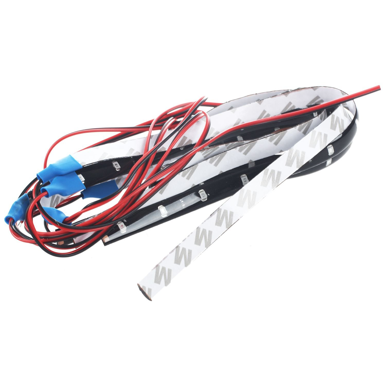 Cikuso 6 X Impermeabile DC12V Motor LED Strip Underbody Light per Auto Moto Rossa