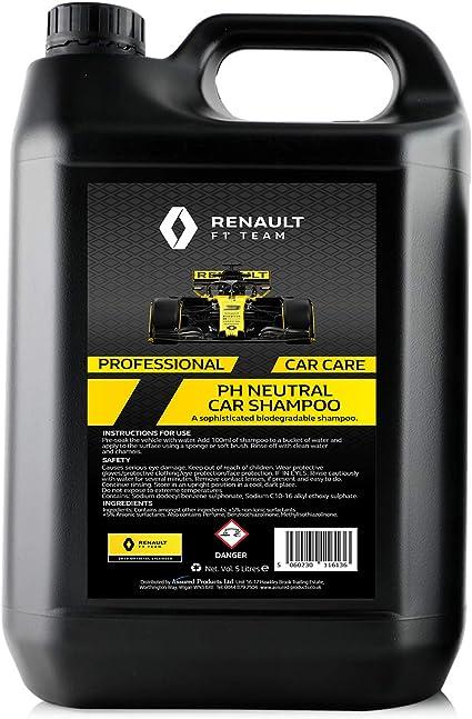 Champú para Coche Renault F1 5 litros PH Neutro | Champú ...