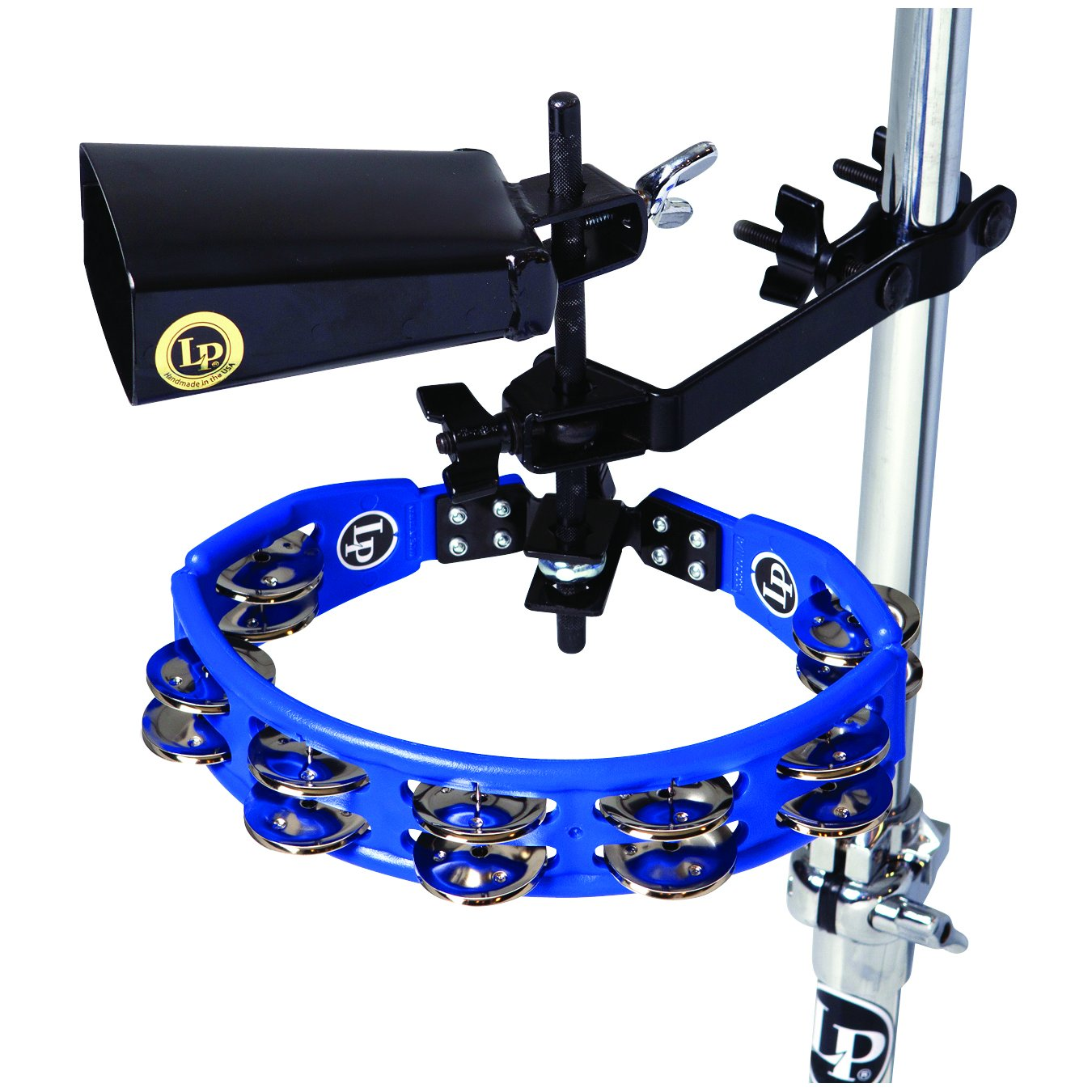 Latin Percussion LP160NY-K Tambourine and Cowbell with Mount Kit by Latin Percussion