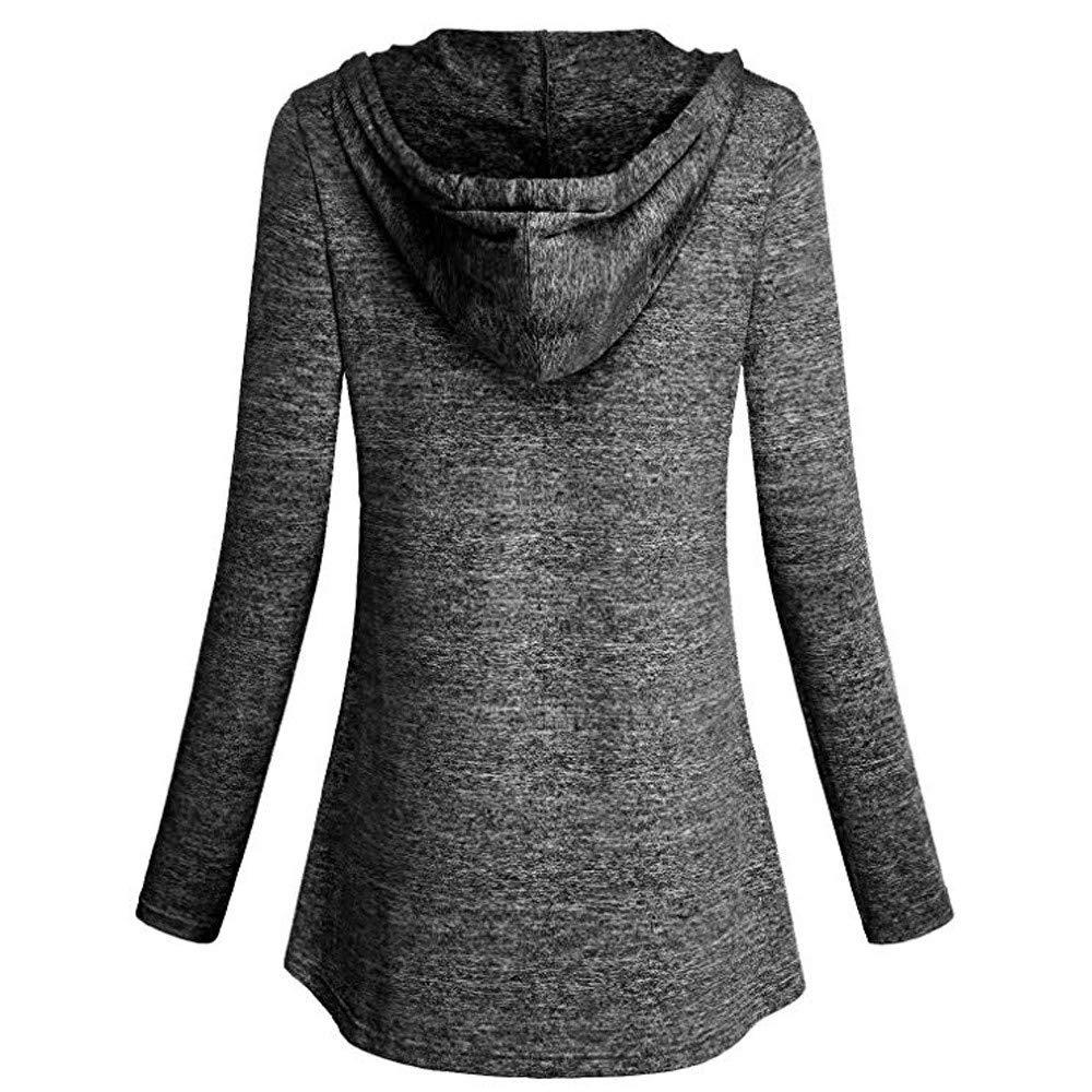 A-Black,XS YOcheerful Womens Long Sleeve Shirt Tee Top Blouse Solid Homewear Travel Jumper Tunic