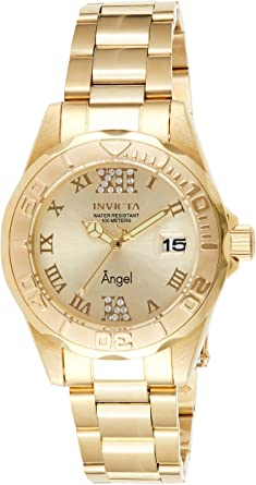 Invicta Women's Angel 38mm Gold Tone Stainless Steel Quartz Watch, Gold (Model: 14397)
