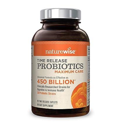 Naturewise - Mezcla probiótica de liberación prolongada y resistente al á