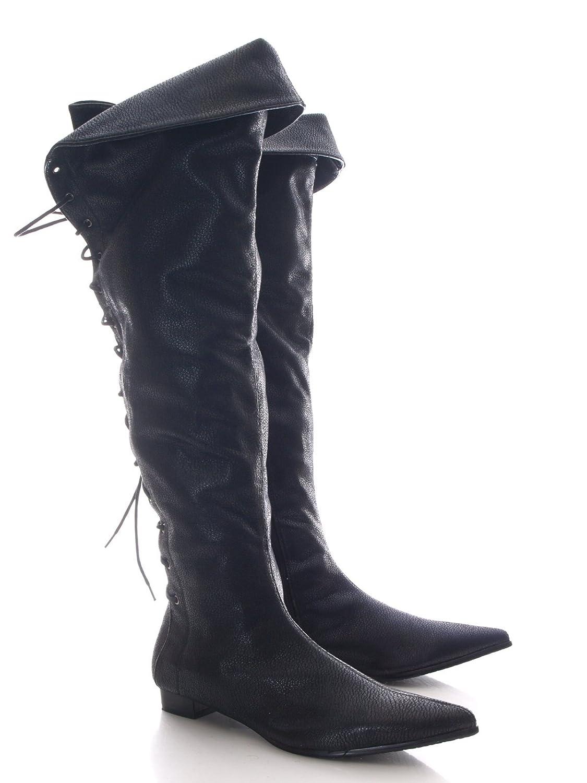 8eec45caa08a53 Damen Stiefel kniehoch ca. 59 cm Schwarz   60807-11 (36)  Amazon.de  Schuhe    Handtaschen