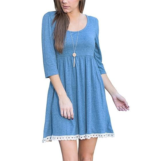 Eloise Isabel Fashion dress mulheres moda rendas hem patchwork cintura alta plissada dress soltas casual vestidos