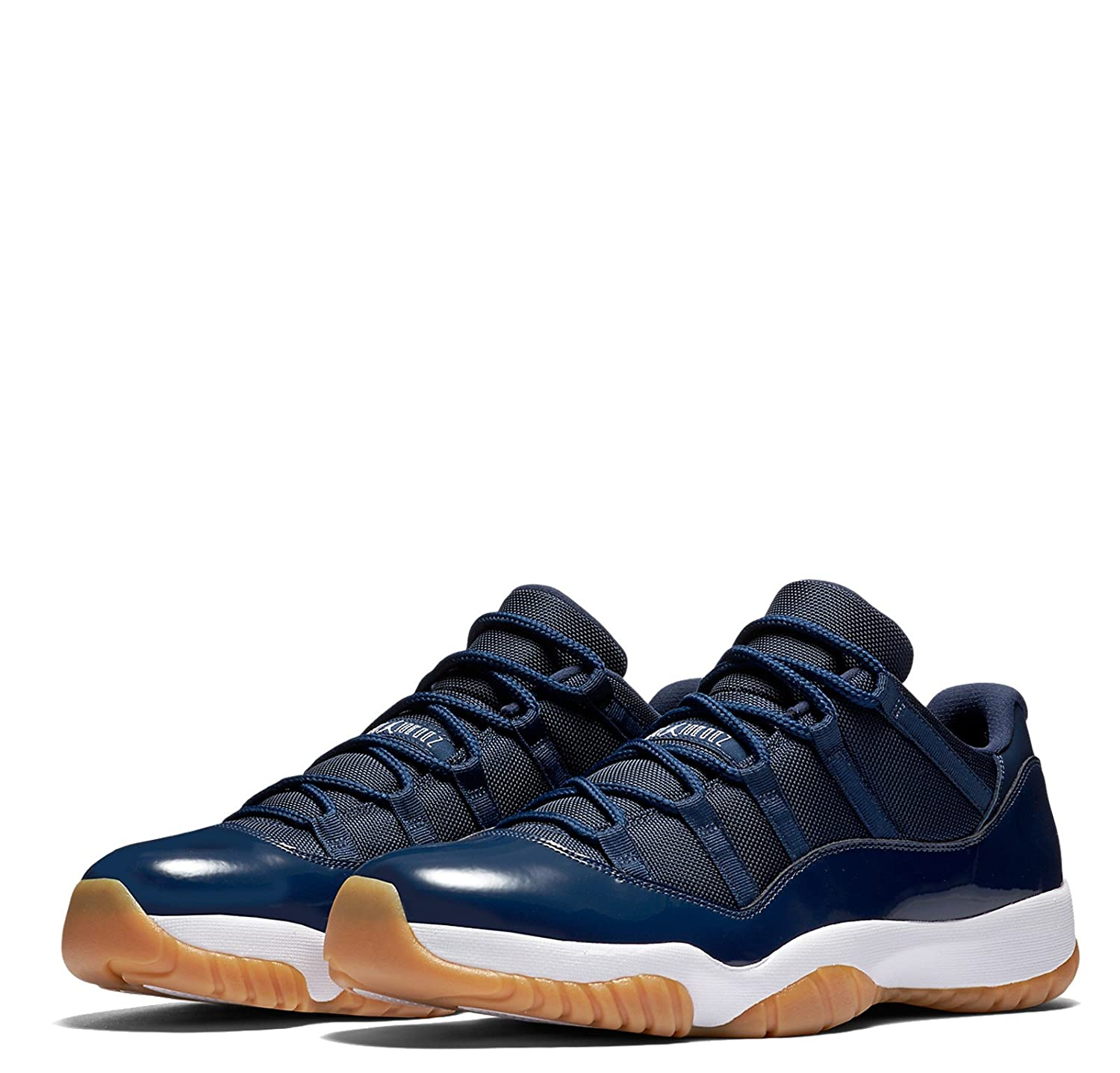 brand new fcb9b 5f59a Jordan Men Air 11 Retro Low (Midnight Navy/White-Gum Light Brown)