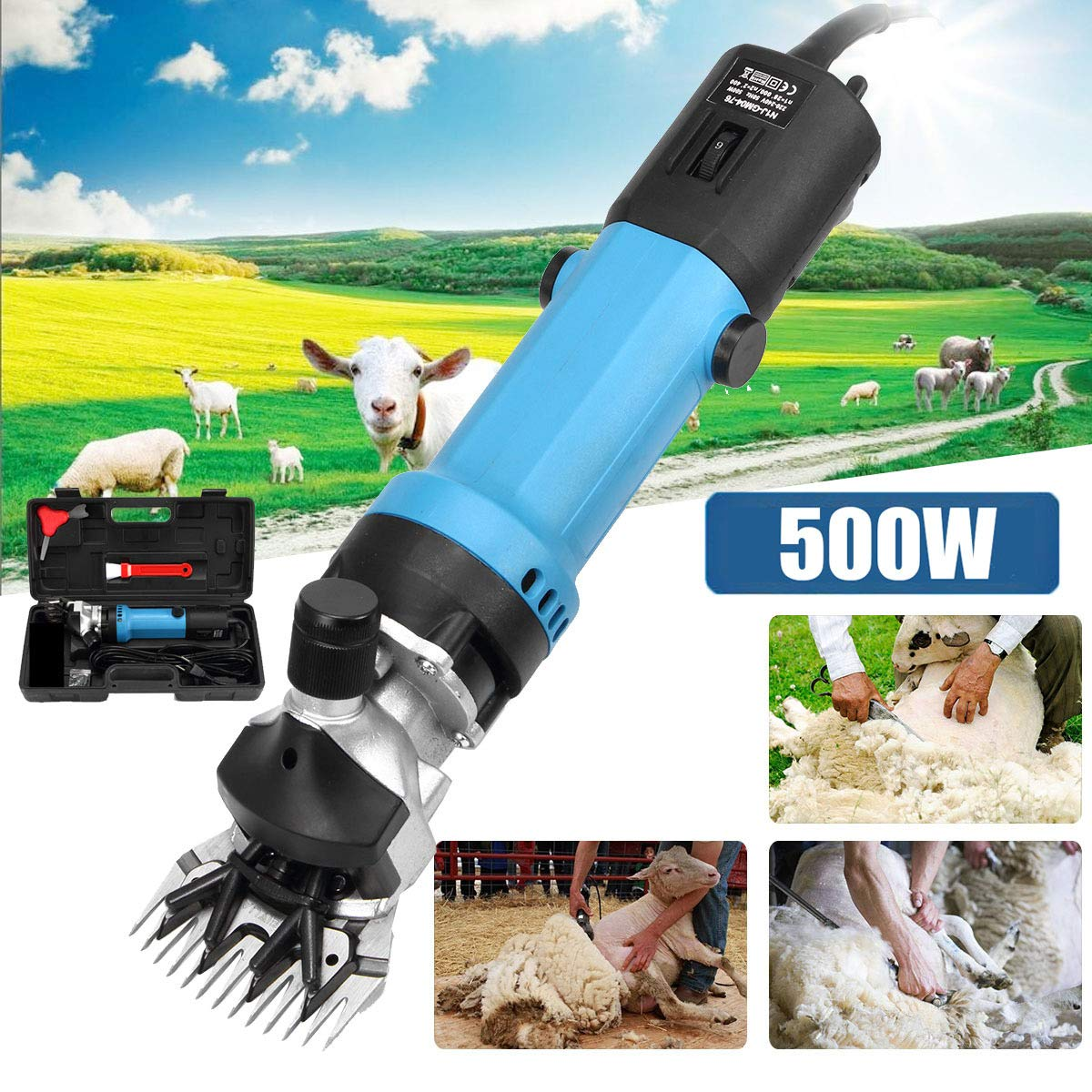 350 W Electric Sheep Shearing Clipper 6 Speed Adjustment Speed Wool Electric Sheep Shearing for Farm Livestock