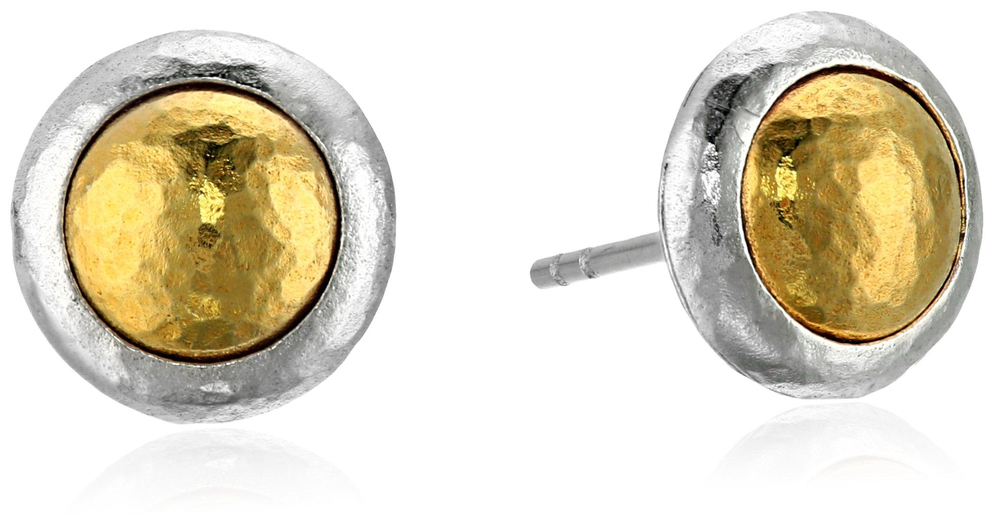 GURHAN ''Amulet'' Sterling Silver Round Vermeil Stud Earrings