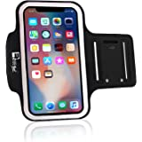 Premium iPhone X/10 Running Armband with Full Screen Access. Sports Phone Arm Case Holder for Jogging, Gym Workouts & Exercise