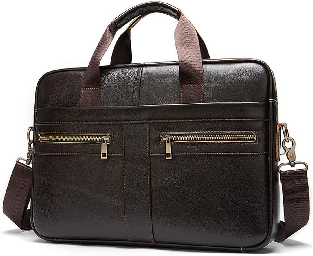 Mens Briefcase Bag Leather Laptop Bag Business Tote Office Portable Laptop Shoulder Bag 2019BE4moshacoffee