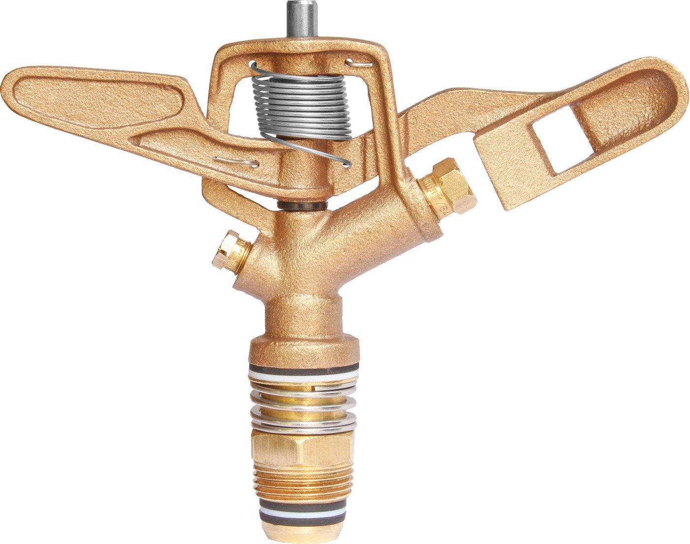 IrrigationKing RK-30HD 3/4'' Heavy Duty Brass Sprinkler 27° - 11/64'' x 1/8'', Metal