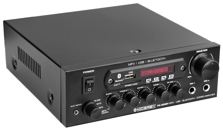 McGrey PA-225BT module final Bluetooth avec lecteur USB/MP3