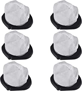 Leadaybetter 6 Pack Dust Cup Filters for Shark Cordless Hand Vac SV780 SV75Z SV728N SV726N,Replacement Part# XF769, XSB726N