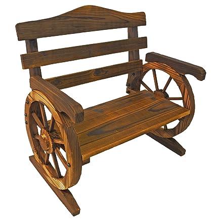Amazon.com: Diseño rústico de madera Rueda de Carro Junior ...