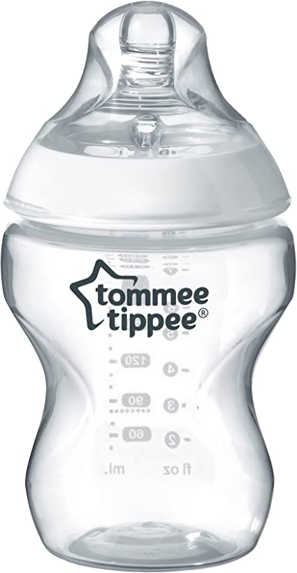 Baby Clear Bottles 260 ml breast Shaped Tommee Tippee Closer to Nature Set Of 6